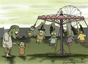 Смешные картинки про зомби (№1)